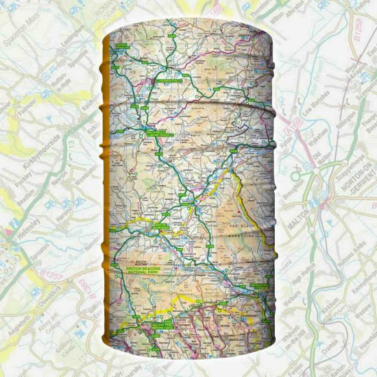 Brecon Beacons and Mid Wales Wearable Map