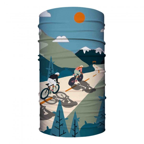 Retro Cycling Blue